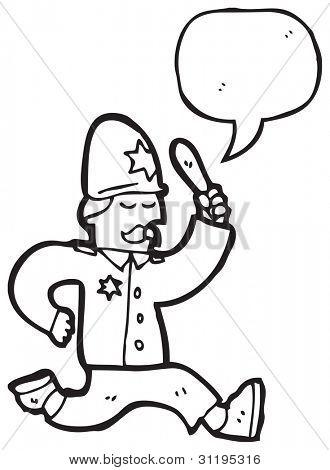 cartoon british policeman