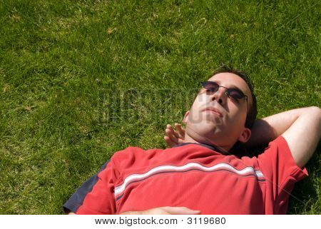 Male Sun Bathing