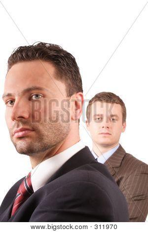 Senior And Junior Businessmen