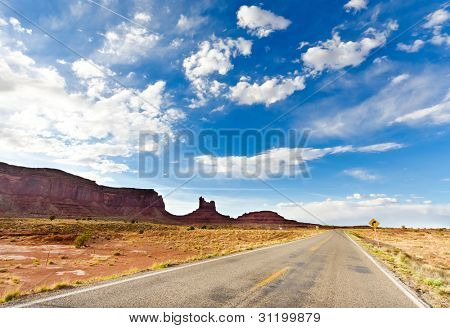 Road to the Monument Valley