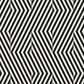 Vector Geometric Lines Seamless Pattern. Modern Texture With Diagonal Stripes, Broken Lines, Chevron poster