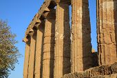 Temple Of Juno At The Valley Of Temples In Agrigento. Sicily poster