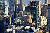 Landmark architecture in midtown Manhattan poster