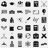 College Student Icons Set. Simple Style Of 36 College Student Icons For Web For Any Design poster