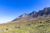 Jandia Peninsula, Fuerteventura Island, Canary Islands, Spain. Villa Winter On The Background. Fuert poster