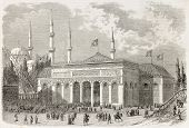 image of constantinople  - Universal Expo of Constantinople building old view - JPG