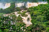 View Of The Famous Iguazu Falls From Brazilian Side. Iguazu Falls Are Waterfalls Of The Iguazu River poster