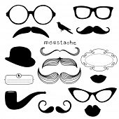 picture of mustache  - Retro Party set  - JPG