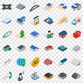 Deposit Account Icons Set. Isometric Style Of 36 Deposit Account Icons For Web For Any Design poster