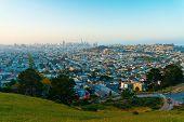 View Of San Francisco, Ca At Twilight poster