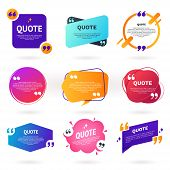 Collection Of Abstract Colorful Quote Text Boxes With Quotes Symbols. Geometric Banner Template In D poster