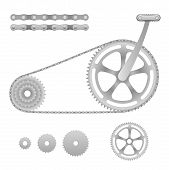 Vector bicycle gear