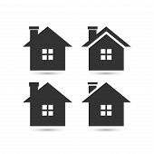 Vector Home Icon, House Icon, House Logo Vector. House Icon Simple. House Icon App. House Icon Web,  poster