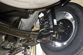 Rear Suspension Of A Modern Car. Elements And Design Of The Rear Suspension. Rear Suspension Beam, S poster