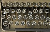 picture of qwerty  - detailed close up of an old qwerty keyboard - JPG
