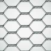 stock photo of chicken-wire  - vector chicken wire seamless background - JPG