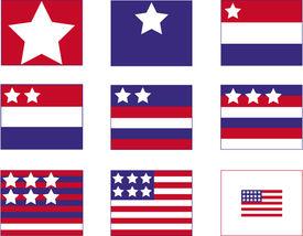 stock photo of storyboard  - American Flag Storyboard - JPG