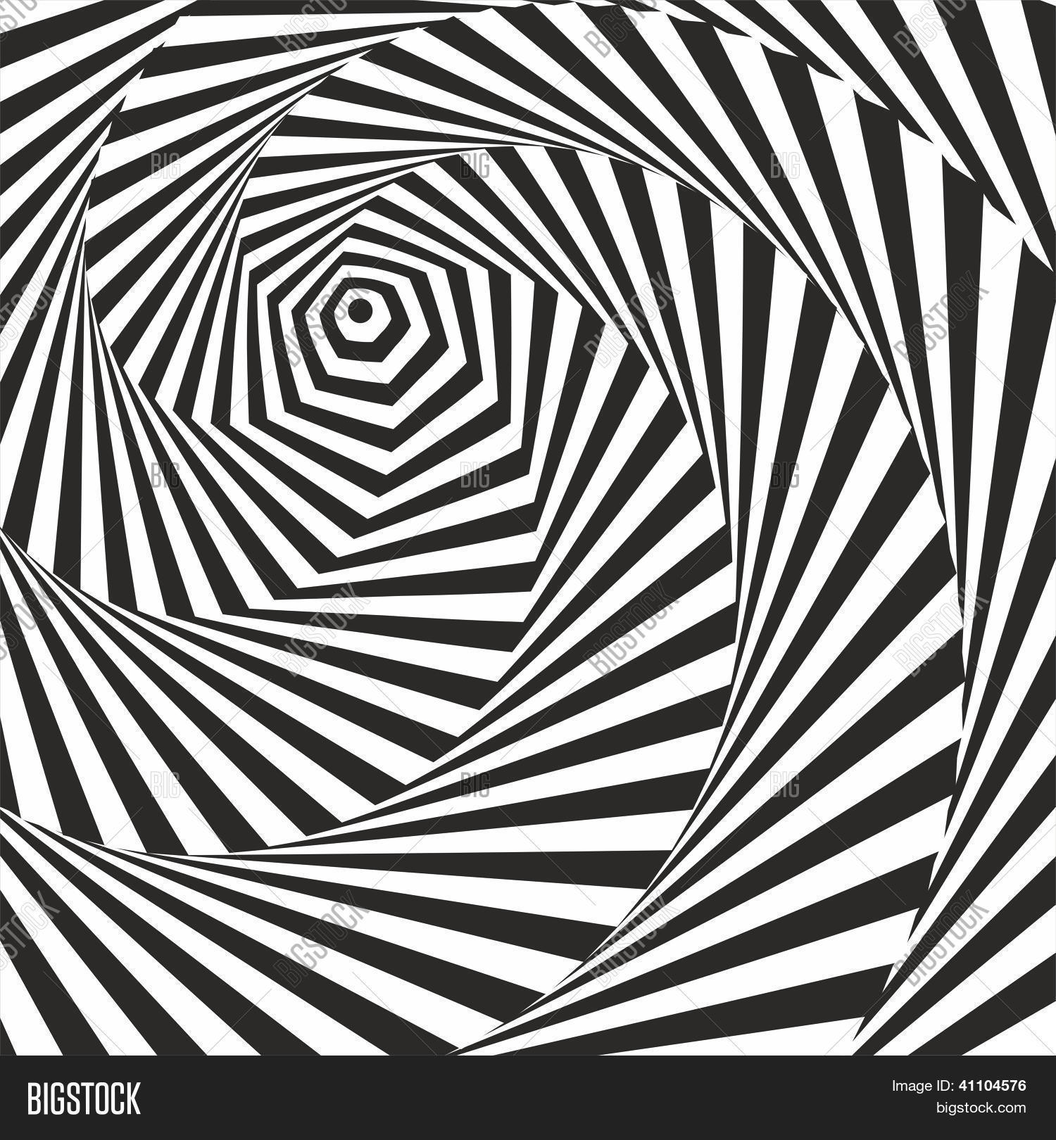 Black white optical illusion vector photo bigstock for Animated optical illusions template
