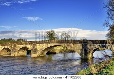 View of Eadsford Bridge, Clitheroe.