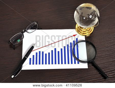 Growth Of Chart On Paper