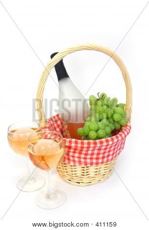 Wine In A Basket