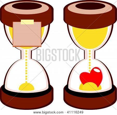 Sandglass Deadline Time Vector