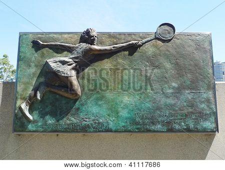 Margaret Court  plaque at Australian tennis center