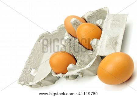 open egg box and eggs