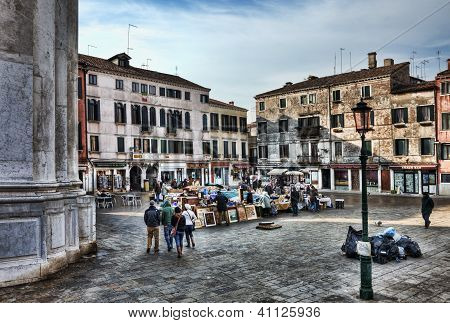 Market Square In Venice