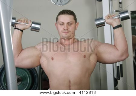 Bodybuilder In Thoughts
