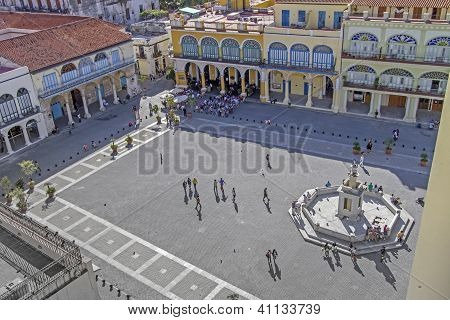 The historic Plaza Vieja in Havana, Cuba