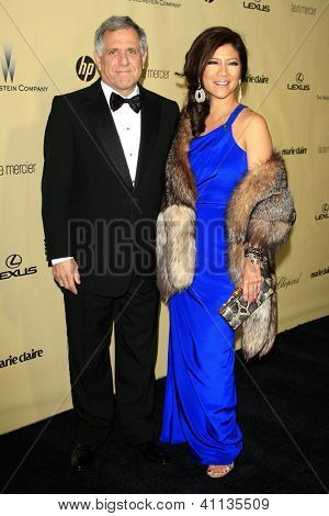 LOS ANGELES - JAN 13:  Les Moonves, Julie Chen arrives at the 2013 Weinstein Post Golden Globe Party at Beverly Hilton Hotel on January 13, 2013 in Beverly Hills, CA..