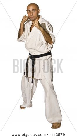 Karateka Men Fighting