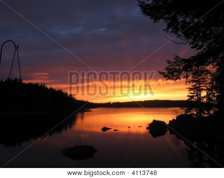 Sunset On Molega Lake 05