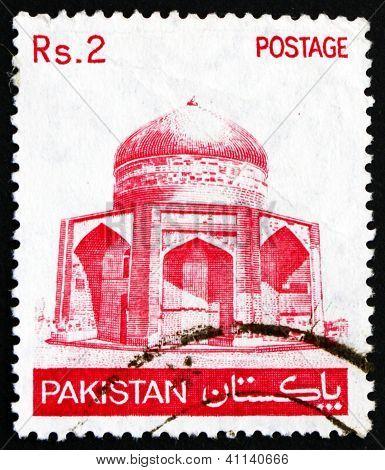 Postage stamp Pakistan 1979 Tomb of Ibrahim Khan Makli