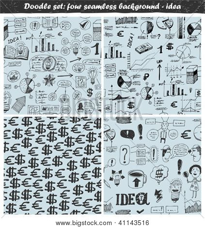 doodle set - seamless backgrounds - idea
