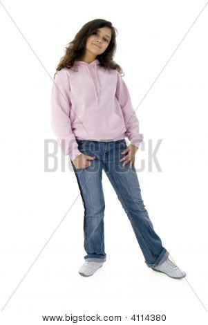 Teenager Girl In Pink