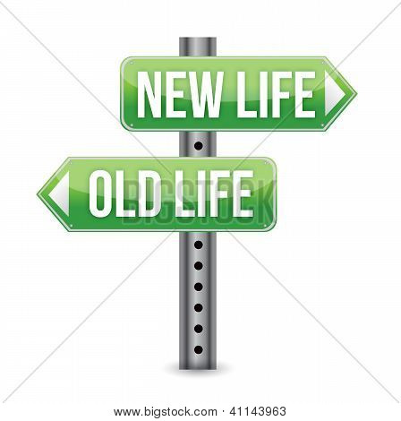 Neue oder alte Leben Zeichen