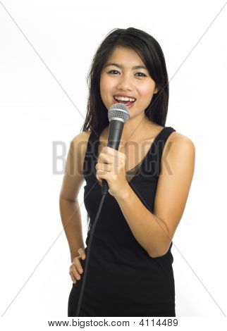 Young Asian Singing