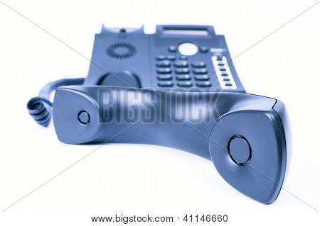 Simple Business Phone On White Background