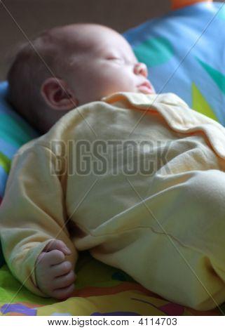 Sleeping Baby - Little Fist In Focus