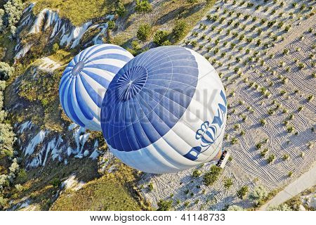 Aerial Hot Air Balloons Patterns