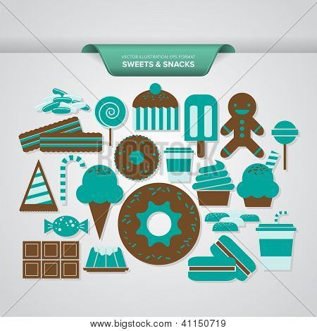 Sweets and Snack Icons