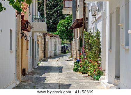 Narrow Street In Old Village