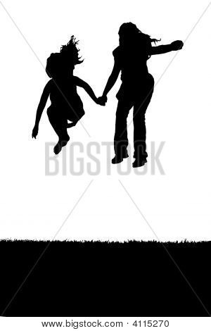 Two Kids Jump