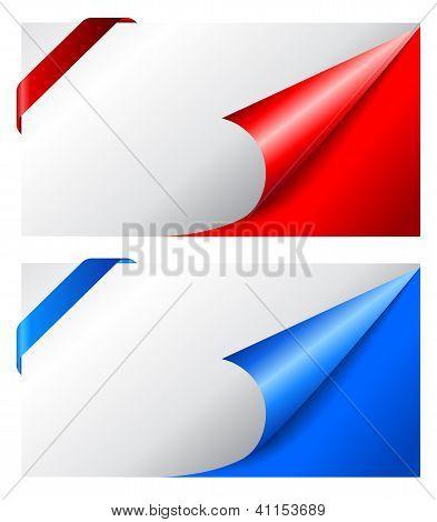 Blank vector cards