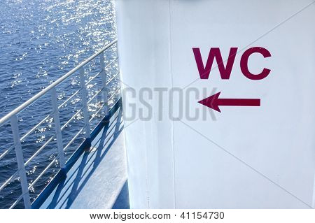 Wc Sign Onboard A Ship