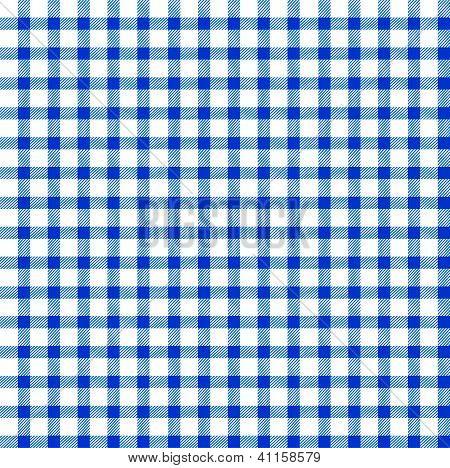 Seamless Retro White-blue Square Tablecloth