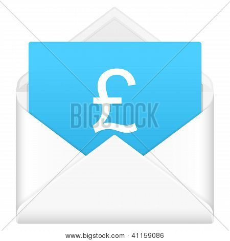 Envelope With British Pound Symbol