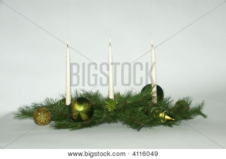 Christmas Spread With Candles